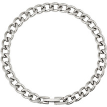 Men's Stainless Steel 7mm Diamond Cut Curb Chain
