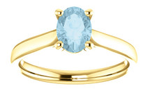 Yellow Gold CHOOSE YOUR OWN Gemstone Ring