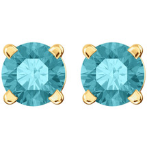 14 Karat Yellow Gold CHOOSE YOUR GEMSTONE 4mm Round Earrings