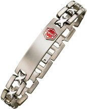 Titanium 12mm Link Medical ID Bracelet