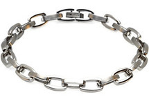 Stainless Steel 8 Inch Square Link Bracelet
