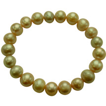 9-10mm Green Freshwater Pearl Stretch Bracelet