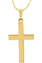 14 Karat Yellow Gold CHOOSE YOUR CROSS SIZE Cross