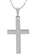 14 Karat White Gold CHOOSE YOUR CROSS SIZE Cross