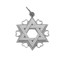 Genuine Sterling Silver Star Of David Jewish Pendant