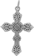Genuine Sterling Silver Large Religious Cross