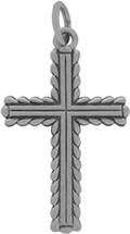 Genuine Sterling Silver Detailed Cross