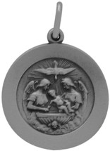 Genuine Sterling Silver Baptism Medallion