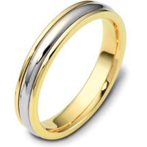 4mm Titanium & Yellow Gold Wedding Band Ring