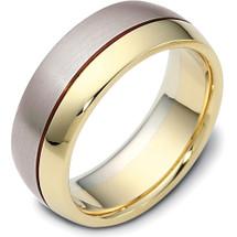 8mm Classic Yellow Gold & Titanium Wedding Band Ring