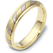 Designer 5mm 14 Karat Yellow Gold & Titanium Wedding Band