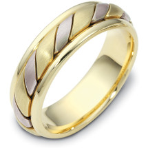 14 Karat 6.5mm Yellow Gold & Titanium Wedding Band