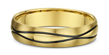 14 Karat Yellow Gold Wave Design Wedding Band Ring