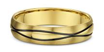 14 Karat Yellow Gold Wave Design Wedding Band Ring