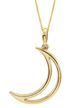 Crescent Moon 14 Karat Yellow Gold Pendant