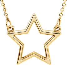 14 Karat Yellow Gold Small Star Necklace