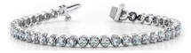 10 Karat White Gold 1.00 Carat Diamond Tennis Bracelet