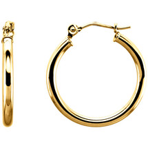 14 Karat Gold Filled 19mm Hoop Earrings