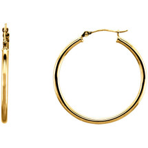 14 Karat Gold Filled 27mm Hoop Earrings