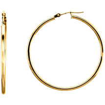 14 Karat Gold Filled 41mm Hoop Earrings