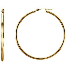 14 Karat Gold Filled 50mm Hoop Earrings