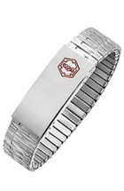 15mm Stainless Steel Expansion Medical ID Wristband