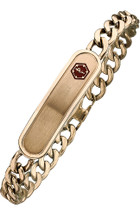 Stainless Steel 10mm Link Medical ID Bracelet - Rose Gold Plated