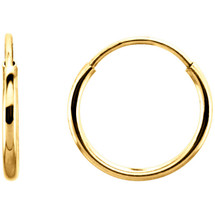 14 Karat Gold Filled 19mm Endless Hoop Earrings