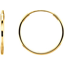 14 Karat Gold Filled 27mm Endless Hoop Earrings