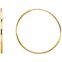 14 Karat Gold Filled 50mm Endless Hoop Earrings