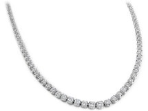 14 Karat White Gold Diamond Tennis Necklace