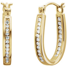 Inside / Outside 14 Karat Yellow Gold Diamond Hoop Earrings