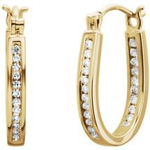 Inside / Outside 14 Karat Yellow Gold Diamond Hoop Earrings