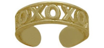 10 Karat Yellow Gold XOXO Toe Ring