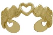 10 Karat Yellow Gold Heart Toe Ring