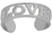Genuine Sterling Silver LOVE Toe Ring