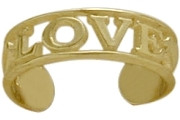 10 Karat Yellow Gold LOVE Toe Ring
