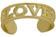 10 Karat Yellow Gold LOVE Toe Ring