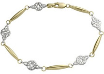 10 Karat Two-Tone Celtic Bracelet