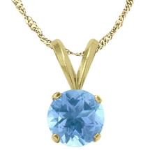 14 Karat Yellow Gold CHOOSE YOUR GEMSTONE Round 5mm Pendant