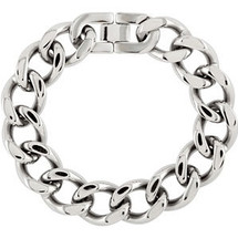 8.5 Inch Stainless Steel Curb Chain Link Bracelet