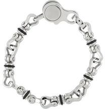 Stainless Steel & Rubber Link Bracelet