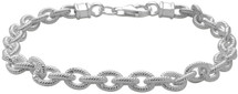 Genuine Sterling Silver Twisted Cable Link Bracelet