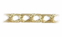 Men's Thick 10 karat Gold Link Bracelet