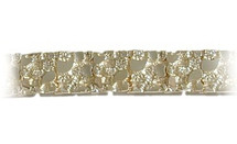Men's Thick Nugget Style 10 Karat Gold Bracelet