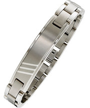 Men's Stainless Steel Triple Line Bracelet