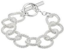 Genuine Sterling Silver Mesh Link Bracelet