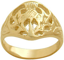 10 Karat Unisex Yellow Gold Celtic Ring