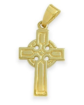 14 Karat Yellow Gold Religious Celtic Cross