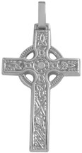 Genuine Sterling Silver Detailed Celtic Cross